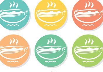 Colorful Pan Icons Vector Pack - Free vector #147223