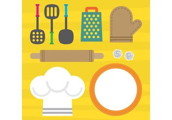 Kitchen Vector Elements - vector gratuit #147243