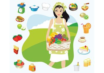 Summer Picnic - Free vector #147253