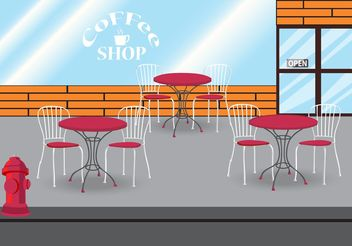 Coffee Shop Vector - Free vector #147303