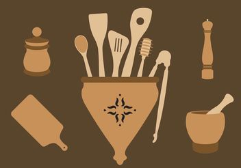 Classic Wooden Spoons - Free vector #147313