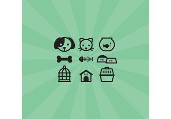 Pet Icons - vector #147343 gratis