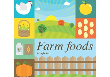 Farm Vector Foods - Free vector #147463
