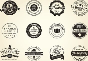 Free Vector Thanksgiving Badges - vector #147533 gratis