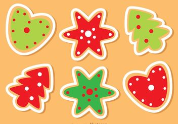 Christmas Cookies Vectors Pack - Free vector #147583