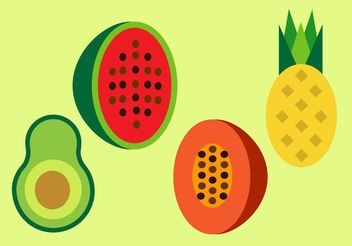 Free Fruits Vector Set - vector gratuit #147593