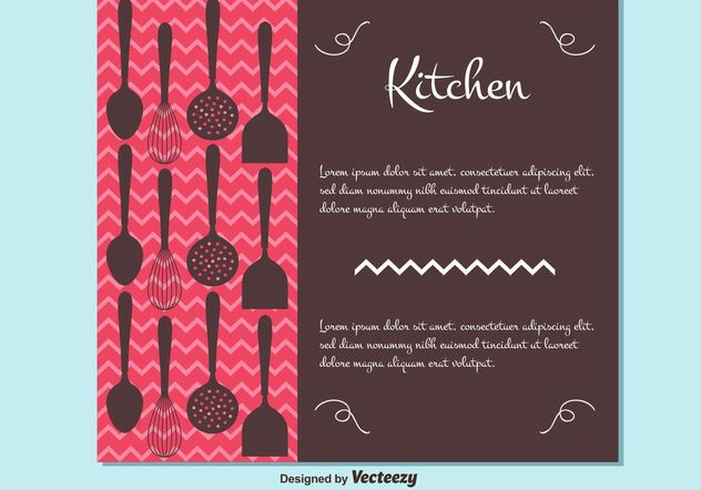 Free Vector Cutlery Style Background - Free vector #147643