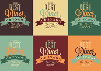 Best 50s Diner Typographic Signs - Free vector #147693