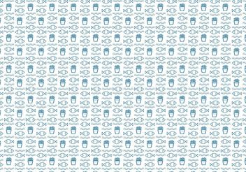 Fish and Chips Pattern Vector - Free vector #147733