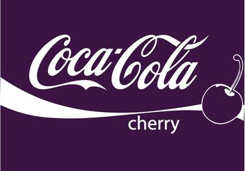 Cherry Cola Vector - vector gratuit #147813