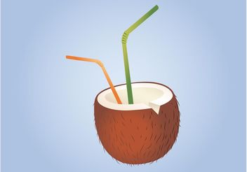 Coconut Cocktail - vector gratuit #147843