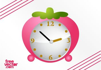 Strawberry Alarm Clock Vector - vector #147853 gratis