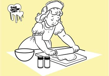 Baking Girl - vector gratuit #147873