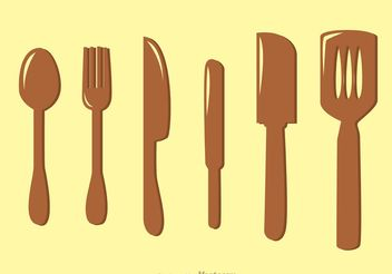 Kitchen Utensil Vectors Pack - Free vector #147903