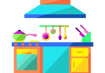 Modern Kitchen Vector - vector gratuit #147933