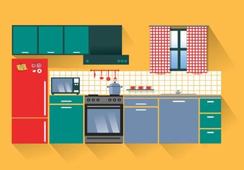 Modern Kitchen Vector - vector gratuit #147953