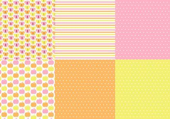 Butterfly Polka Dot Vector Pattern Set - Kostenloses vector #147963