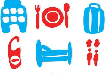 Simple Hotel Icons Vector - Free vector #147983