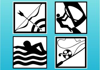 Sports And Hobby Icons - vector #148063 gratis