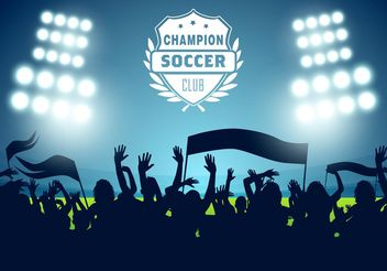 Free Soccer Football Poster Vector - бесплатный vector #148073