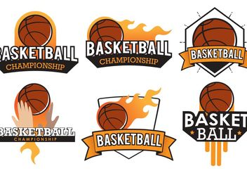 Basketball Badge Vectors - Free vector #148083