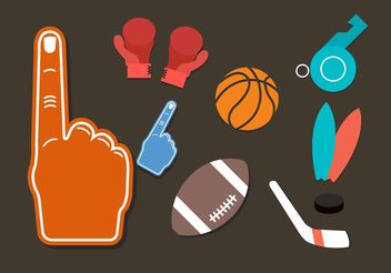 Sports Vector Icons - Kostenloses vector #148093