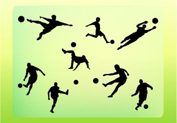Soccer Vector Silhouettes - Free vector #148123