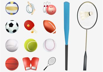 Vector Sports Gear - vector gratuit #148133
