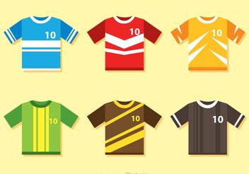 Color Soccer Jersey Vectors - бесплатный vector #148183