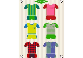 Soccer Vector Uniforms - Free vector #148233