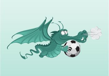 Football Dragon - vector gratuit #148263