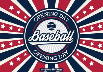 Baseball Opening Day Poster / Background - бесплатный vector #148323
