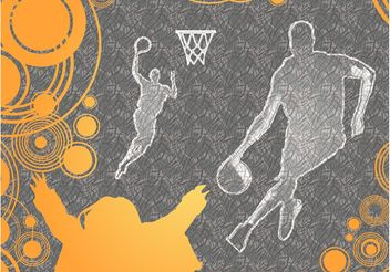 Basketball Background Vector - бесплатный vector #148373