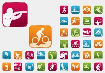 Olympic Sports Vectors - vector gratuit #148383
