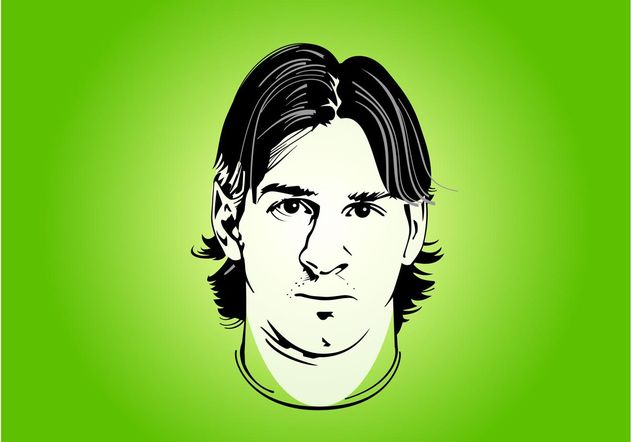 Lionel Messi Portrait - Free vector #148423
