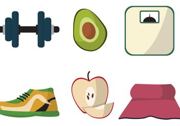 Diet Themed Vector Set - Free vector #148523