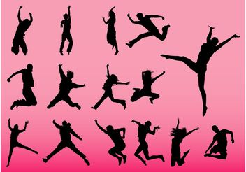 Jumping People Vectors - Free vector #148583
