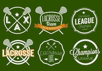 Lacrosse Label Set - Free vector #148593
