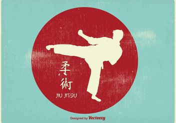 Vintage Karate Illustration - vector #148603 gratis