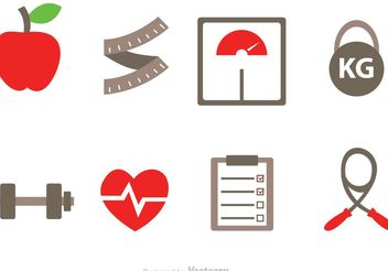 Diet Vector Icons - бесплатный vector #148633