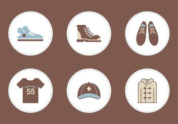 Free Mens Clothing Vector Icons - vector #148683 gratis