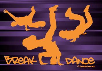 Breakdancing - Free vector #148693