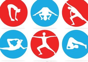 Circle Gymnastics Vector Icons - бесплатный vector #148713