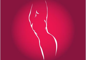 Female Silhouette - Free vector #148793