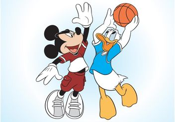 Mickey Mouse And Donald Duck - Free vector #148803