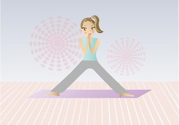 Yoga Cartoon - Free vector #148813