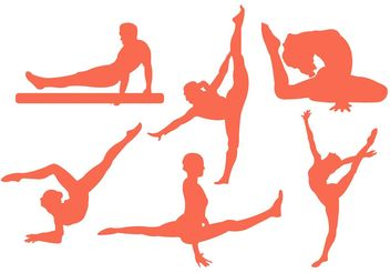 Vector Illustration of Men and Women Doing Gymastics - Free vector #148833