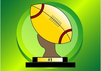 American Football Trophy - Free vector #148873