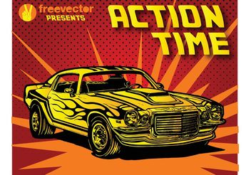 Seventies Car - vector gratuit #148903