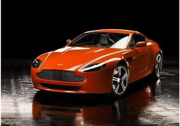 Red Aston Martin Vantage - vector #148953 gratis